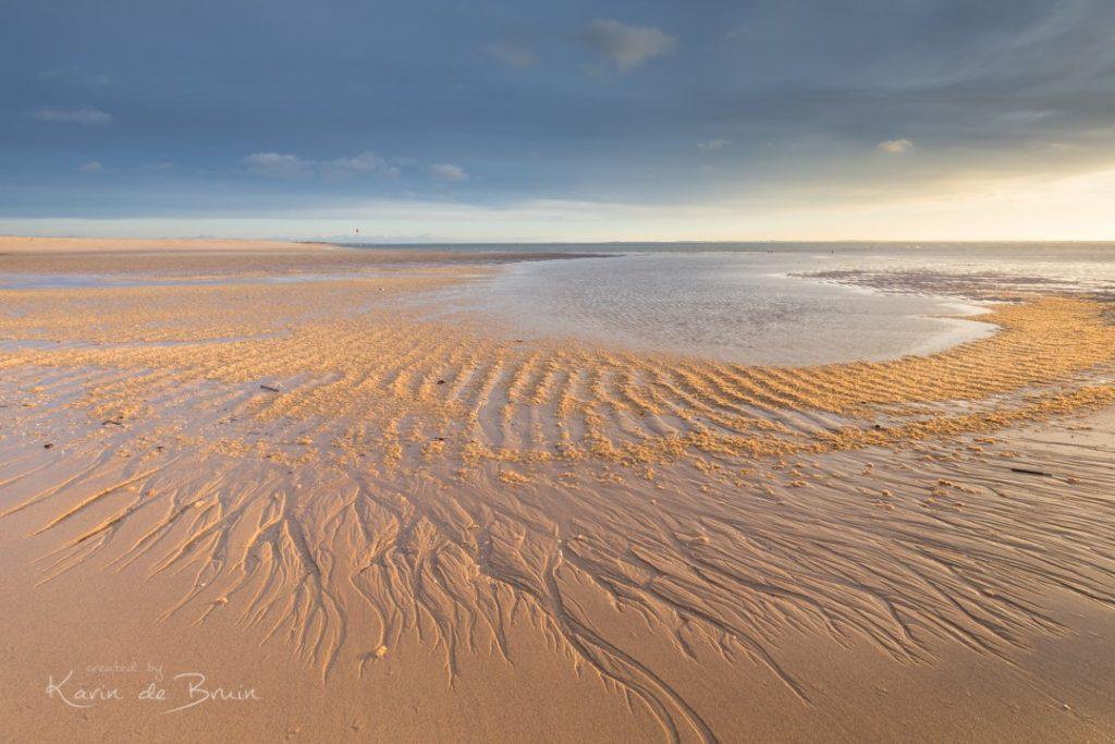 Compositie op het strand